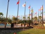 University of the Nations, Kona Hawaii. The flags represent all the nationalities of the students.